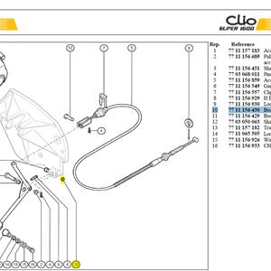 CANON AXE PEDA ACCELERATEUR - Bush-accelerator pedal 3,5 mm