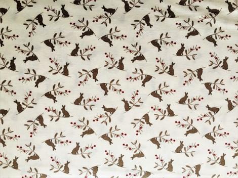Harer på beige bunn