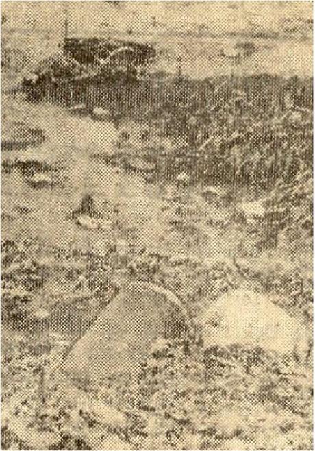 Kloakkutslipp i Sælavika på 60-tallet. Foto. Gjengangeren