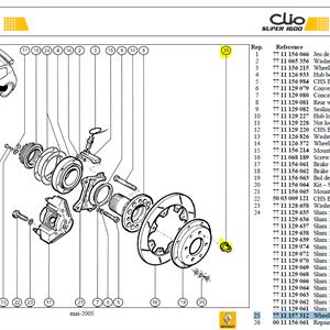 ECROU ROUE M12X125 CONE 90 - Wheel nut