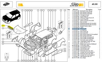 GRIL.DE CAPOT DIM:750X200 - Bonnet grill