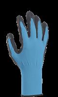 Handske Comfort strl 8 turkos/svart