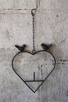 Fågelmatare Hjärta järn 23*2*45cm