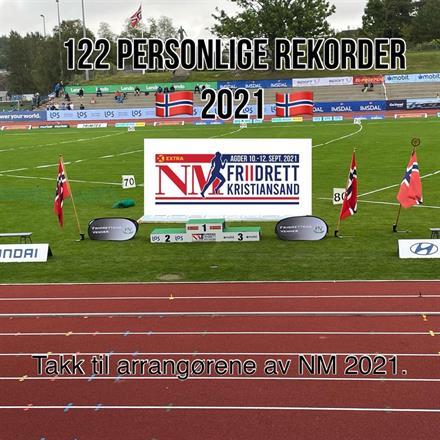 NM: 122 nye personlige rekorder er nest best av «all time high».