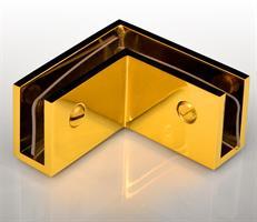 RoyalBath 90°-hållare Blank Mässing/Guld 52x52x27,5mm