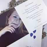 Personligt inbjudningskort 15x15 cm
