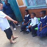Three students at Havila Children Centre
