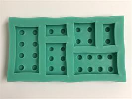 Silikonform Legolike brikker, ass. størrelse