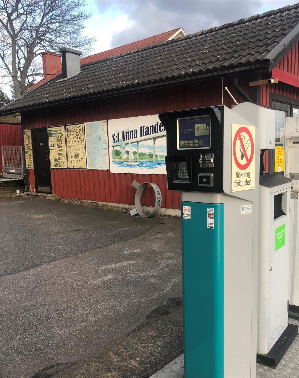 Konto automat för alla vanliga kort