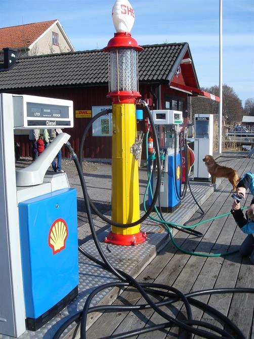 Visi pumpen när den var nylackad o fin 2005