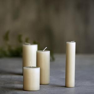 House Doctor Candle, Linen 15 x 7 cm