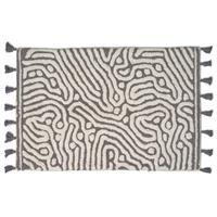 Classic Collection Bath Mat Maze, Titanium/White 60 x 90 cm
