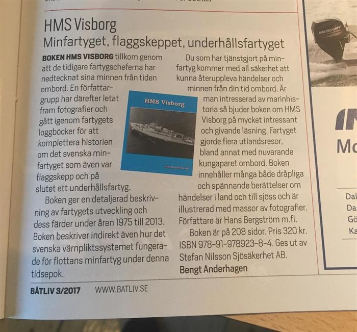 Båtliv recenserar HMS Visborg
