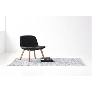 Rug Solid Nahkamatto, Light Grey 65 x 135 cm