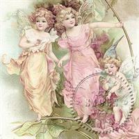 Sagen Vintage Serv. 3 Fairies