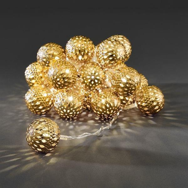 Ljusslinga guldbollar Konstsmide