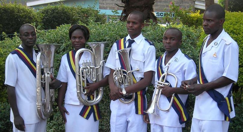 4 instrument inköpta med bidrag från Missionskyrkans Musikkår i Värnamo