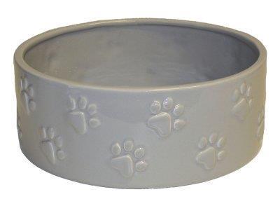 Keramikskål Grå Tassar 20,5x20,5x8cm