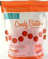 PME Candy Buttons Sjokolade, Orange