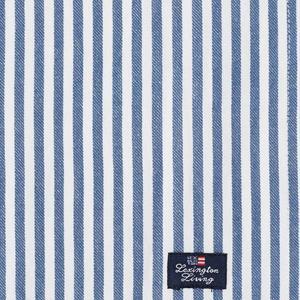 Lexington Striped Cotton Twill Napkin Blue/White