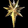 Julstjärna Betlehem mässing Star Trading