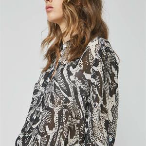 Summum Woman Blouse with snake print, Black