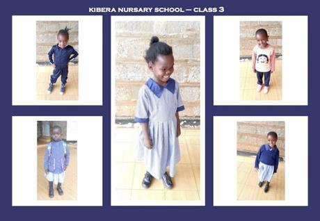 5 students Kibera Nursary School
