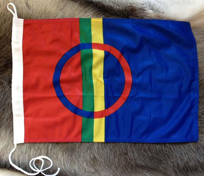 Fasadflagga 75 cm Sapmi