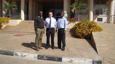 Eric, Ulf & Robert outside THQ