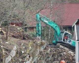 Kobelco 20 tonner graver av før sprengning