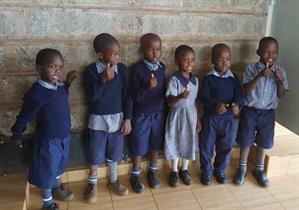 Sponsored students at Kibera Nursary School