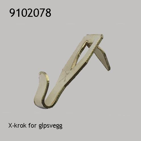 X-krok for gipsvegg