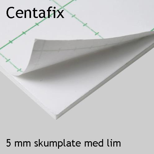 Centafix, 5 mm skumplate med lim
