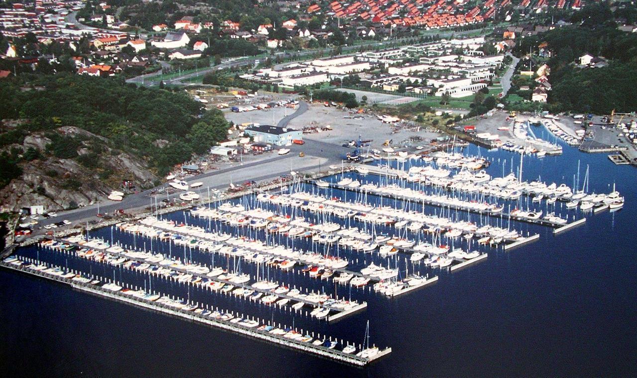 Flygfoto Näsets Båtvarv