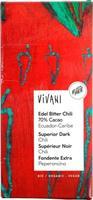 Suklaalevy Vivani tumma chili 100 g, luomu