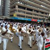 Marching for peace