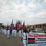"""Salvation Army marching """"For Peace"""""""