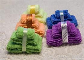 3 handdukar Gröna miniatyr