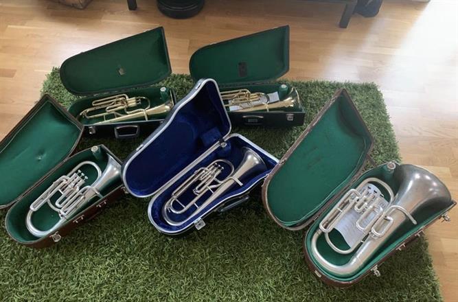 4 Eb Horns & 1 Euphonium from Södertörns Brass