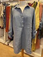 Linneskjorta Nya Dandy Jeansblå one size