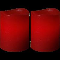Mini vaxljus röda 2-pack Star Trading
