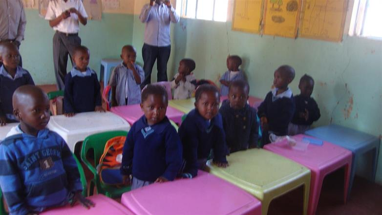 Kibera Nursary School - class 1