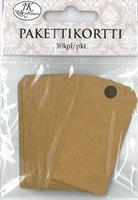 Pakettikortti 3cm x 6cm 30kpl/pkt