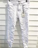 Piro Jeans Valkoinen Hapsulahkeella