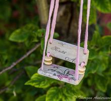 Kärleksgunga kort rosa rosor
