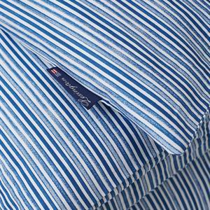 Lexington Blue Striped Organic Cotton Sateen Bed Set
