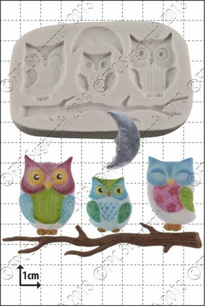 "Silikonform FPC ""Owl Family"""