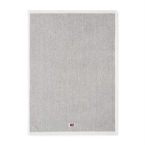 Lexington Original Towel, White/Gray Stripe, 50 x 70 cm
