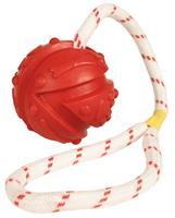 Trixie boll med snöre 7/35 röd