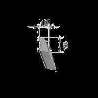 Smyglist plast 10x16x2500 mm vit
